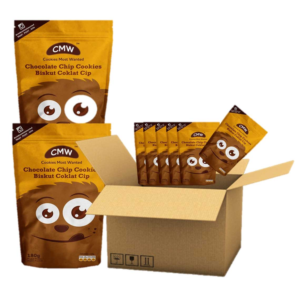 25 Pack CMW Chocolate Chip Cookies (1 carton) (PROMOTION) RM300.00