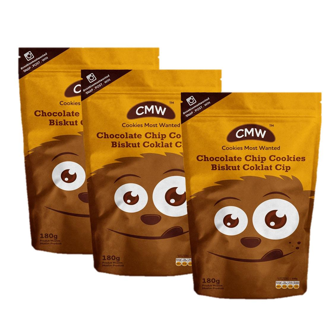 Triplet CMW Chocolate Chip Cookies RM45.00