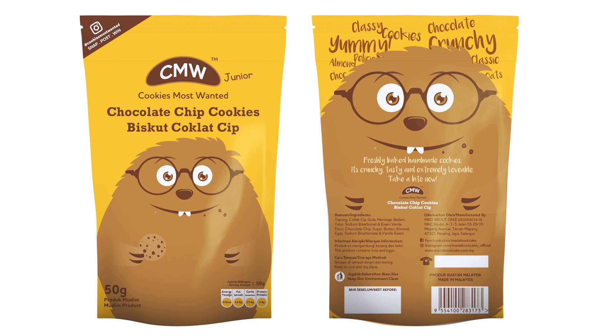 CMW Junior Chocolate Chip Cookies RM6.00 (Min 5 Packets)
